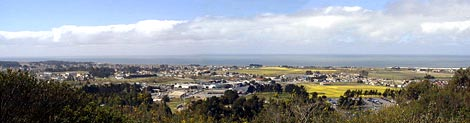 View from CCWD Water Storage Tank Overlooking Half Moon Bay